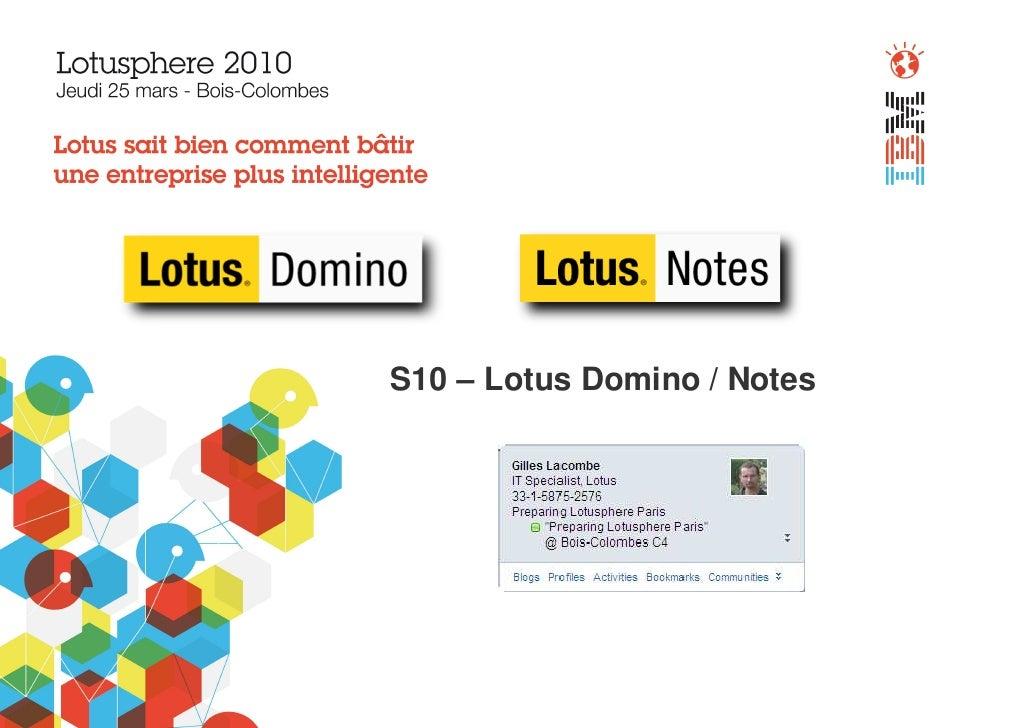 S10 – Lotus Domino / Notes