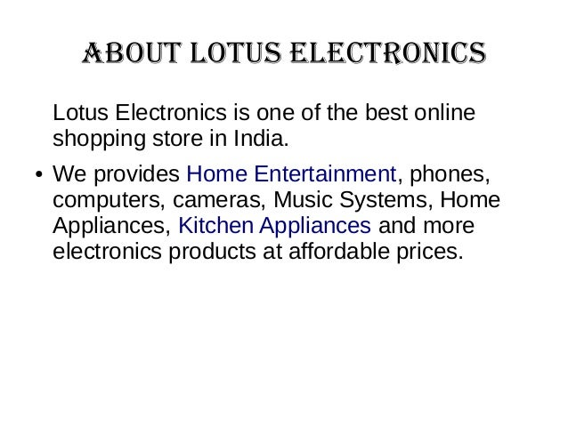 Online shopping sites for electronics
