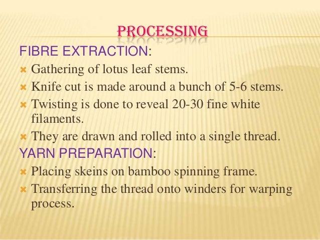 Image result for lotus fibre properties