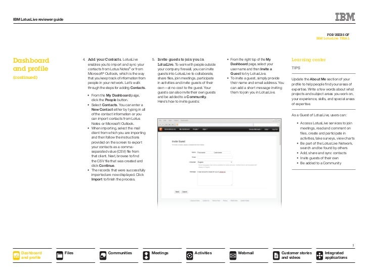 Ibm Lotuslive Reviewer S Guide