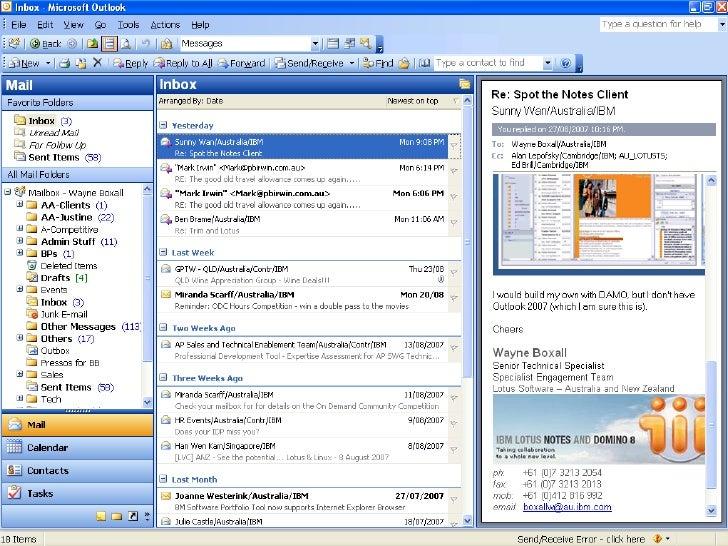 Lotus Notes Domino 8 Vs Ms Exchange 2007 Sowre