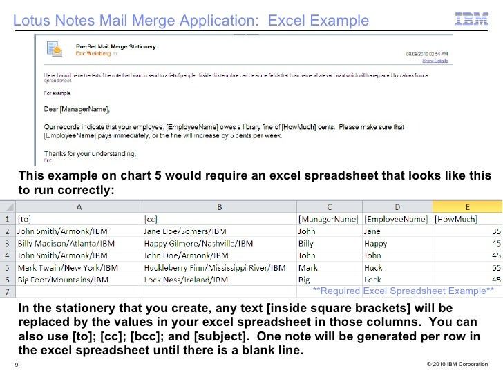 Lotus Notes Mail Merge Create And Run Agent