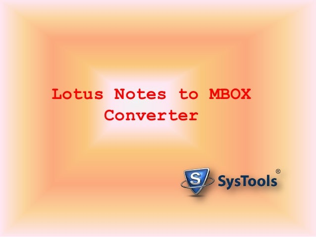 Lotus Notes to MBOX Converter