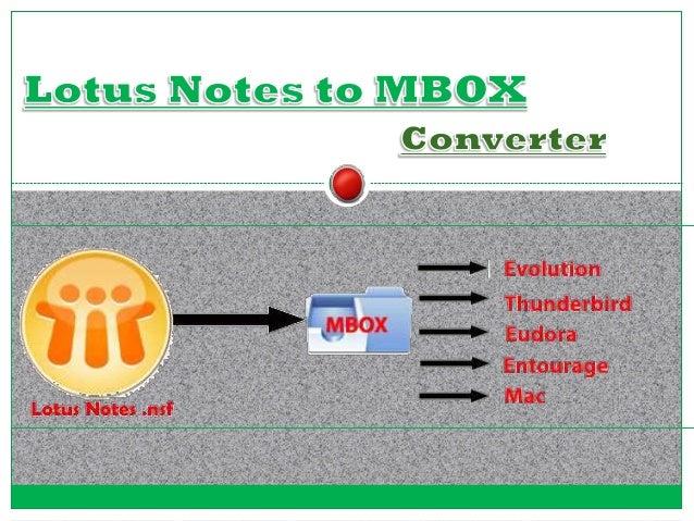 Converting of Lotus Mail to Eudora