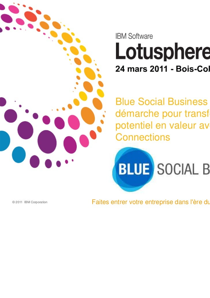 24 mars 2011 - Bois-Colombes                                 Blue Social Business : Une                                 dé...