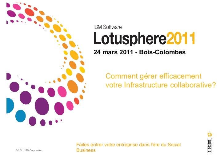 24 mars 2011 - Bois-Colombes                                       Comment gérer efficacement                             ...