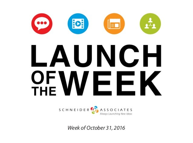 Week of October 31, 2016