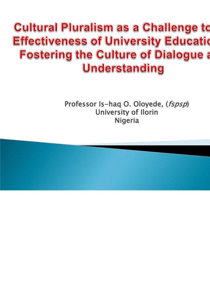 Professor Is-haq O. Oloyede, (fspsp)         University of Ilorin              Nigeria