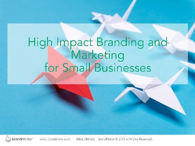 Branding for Small Business (Updated) Slide 1