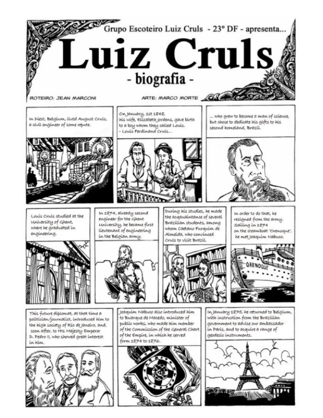 Louis Cruls cartoon biography