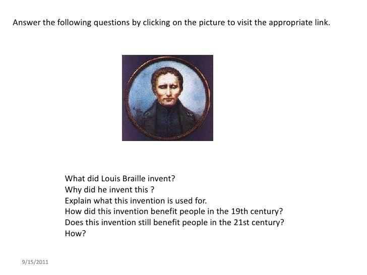 Louis Braille Powerpoint
