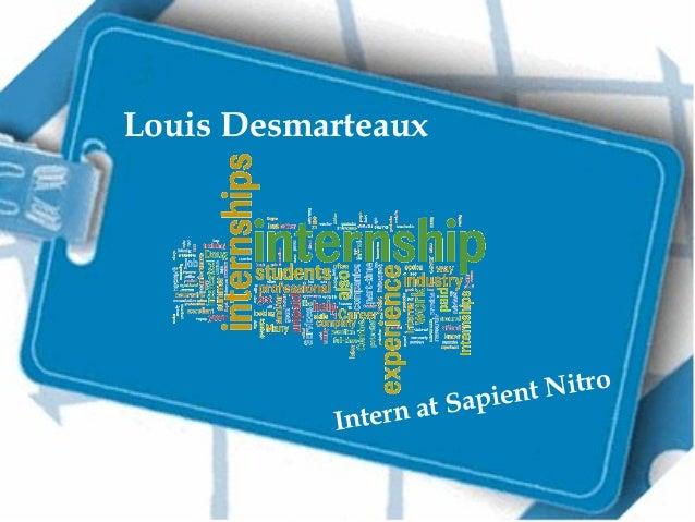 Louis Desmarteaux  Intern  t Nitro t Sapien a