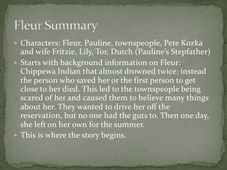 an analysis of the main character Main character she is the main character of this story, because the whole story is centered around her and her journey with the secondary character, roger, after he.