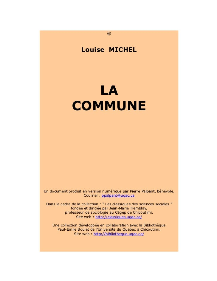 [Louise michel]   la commune