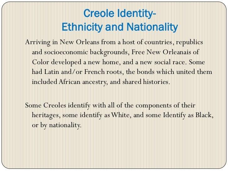 louisiana creole heritage presentation