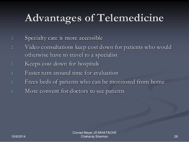 advantages and disadvantages of telehealth