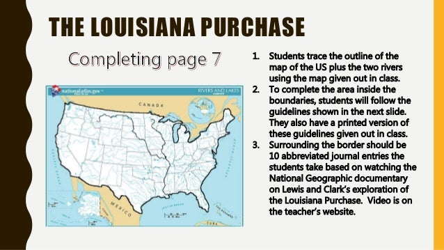 Worksheets Louisiana Purchase Activity : Louisiana purchase map activity journal notes and reading