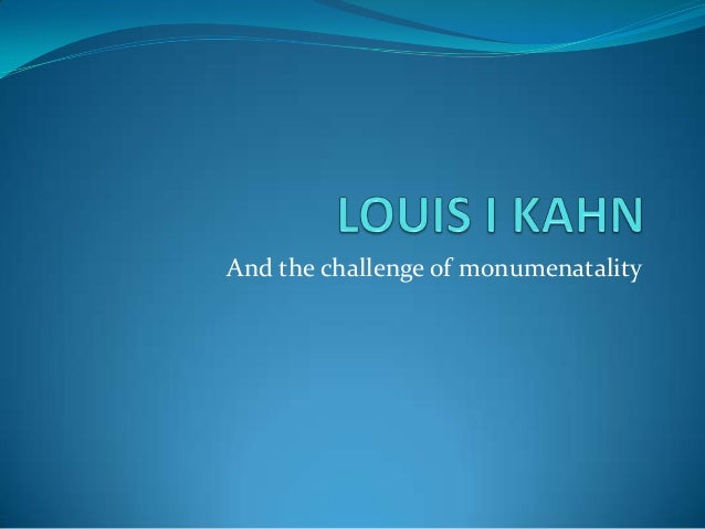 And the challenge of monumenatality