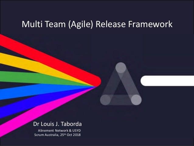 © Alinement Network, 2018 Multi Team (Agile) Release Framework Alinement Network & USYD Scrum Australia, 25th Oct 2018 Dr ...