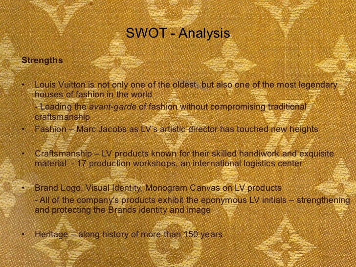 Louis vuitton strengths and weaknesses