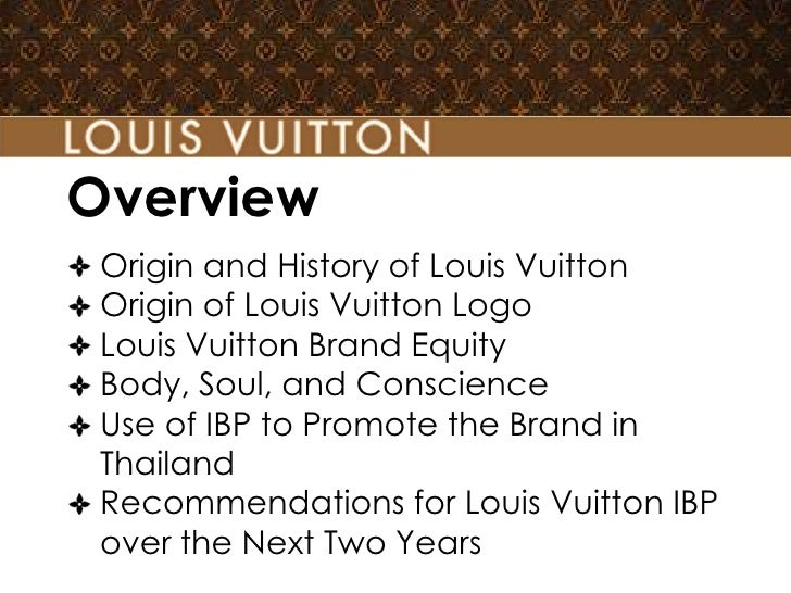 Overview Origin and History of Louis Vuitton Origin of Louis Vuitton Logo Louis Vuitton Brand Equity Body, Soul, and Consc...