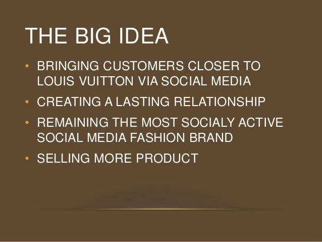 louis vuitton marketing strategy What really drives customers to buy from louis insights generated from our global louis vuitton shopping the difference between market strategy and marketing.
