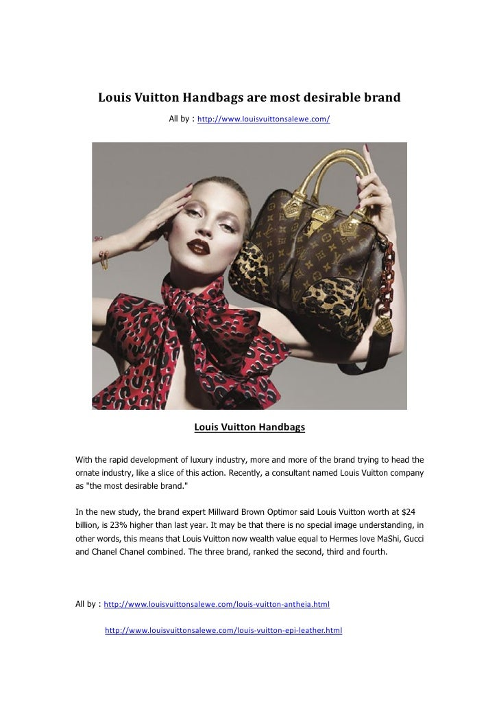 Louis Vuitton Handbags are most desirable brand                          All by : http://www.louisvuittonsalewe.com/      ...
