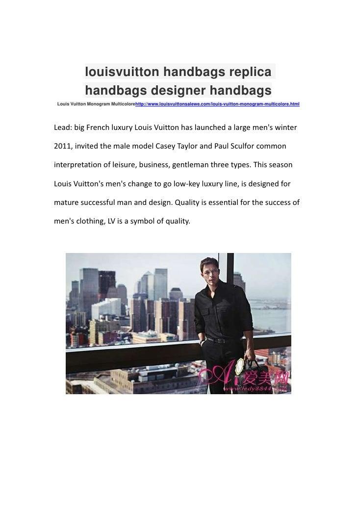 louis vuitton handbags replica handbags designer handbags<br />Louis Vuitton Monogram Multicolore http://www.louisvuittons...