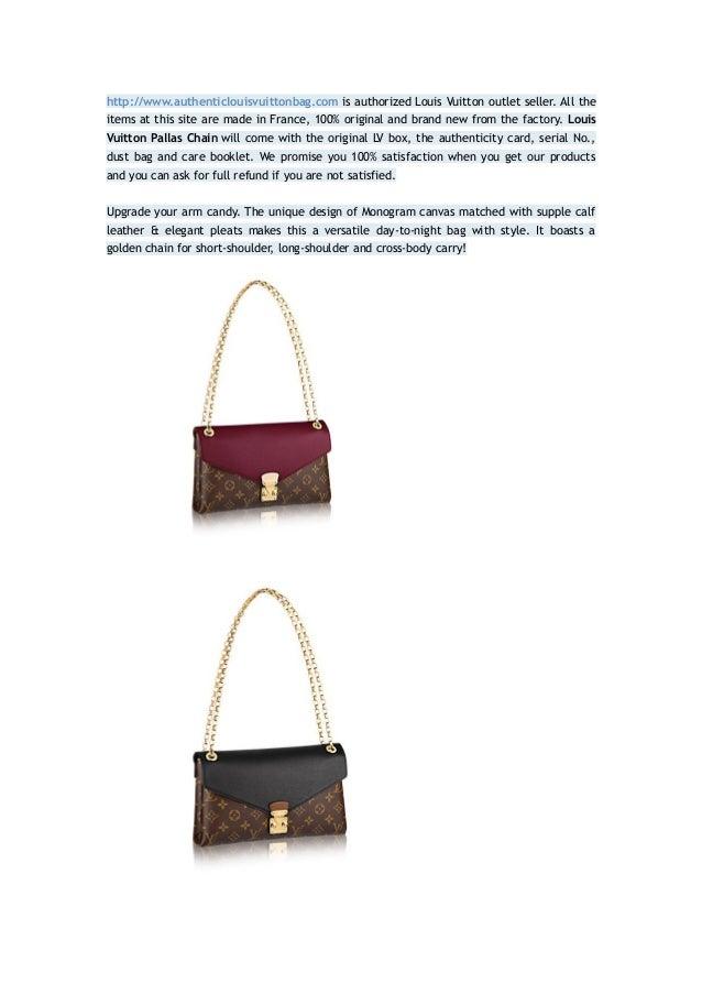 1ea16fd65929 Louis vuitton pallas chain 100% authentic 80% sale
