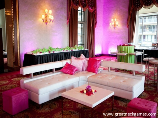 Lounge Furniture Rental for your Events by Great Neck Games