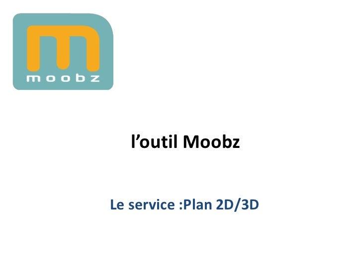 l'outil MoobzLe service :Plan 2D/3D