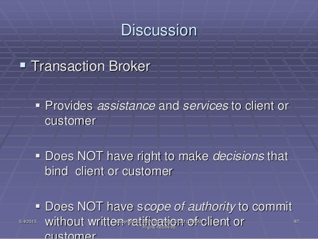 What Is Transaction Brokerage