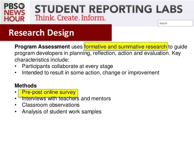 What Is Planning Design To Summative Reporting
