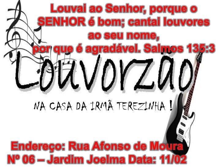 NA CASA DA IRMÃ TEREZINHA !