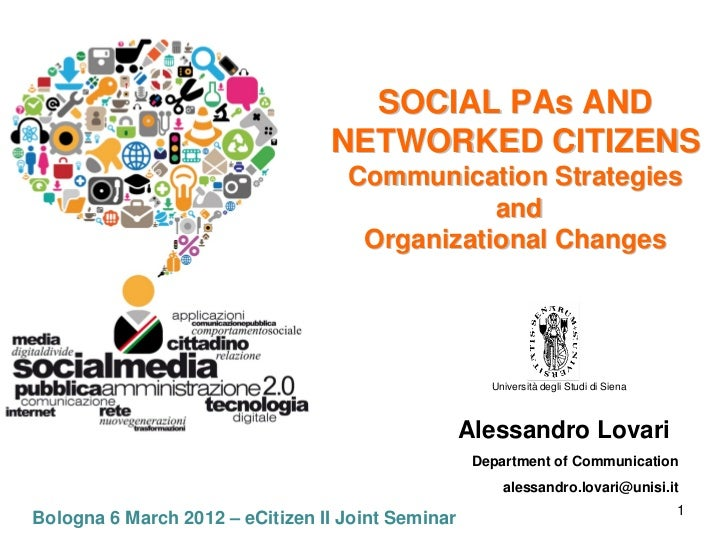 SOCIAL PAs AND                                 NETWORKED CITIZENS                                   Communication Strategi...