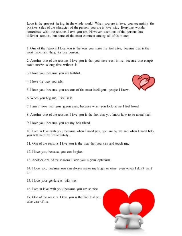 Reasons love the of 21 Reasons