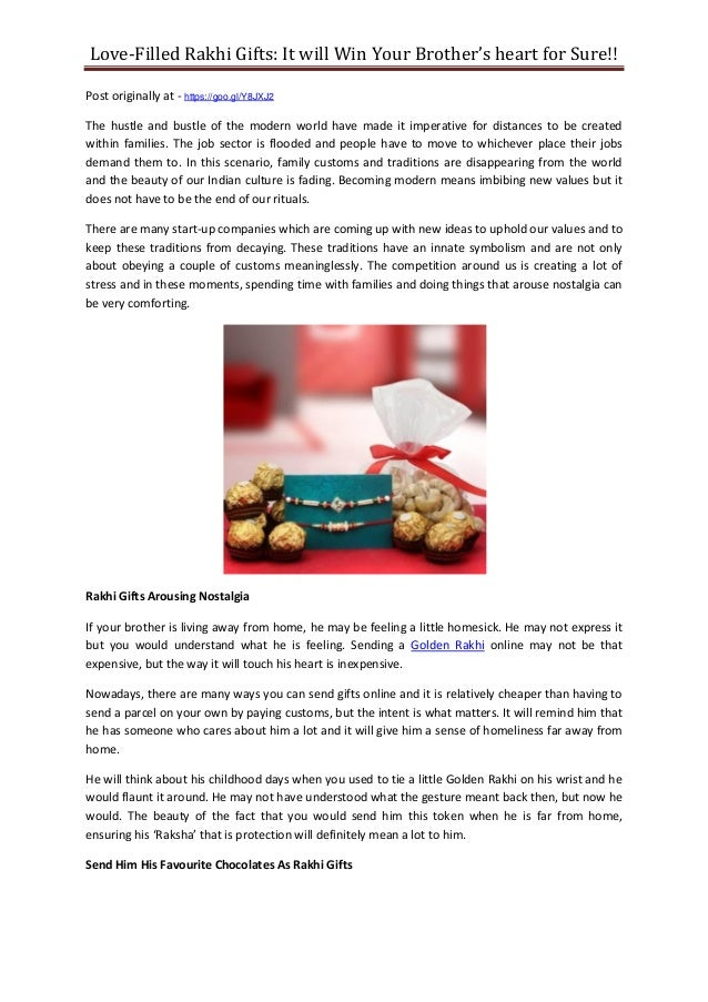 Love-Filled Rakhi Gifts: It will Win Your Brother's heart