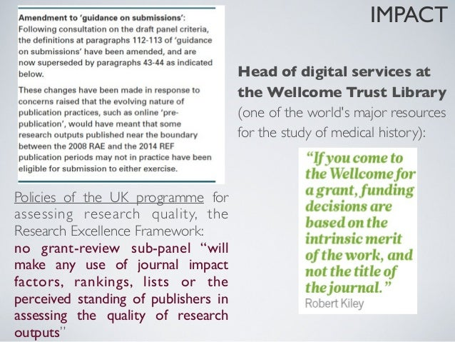 IMPACT          Not only a solution: it is just happeningIn the next ten years, most scholars will join suchnetworks, driv...