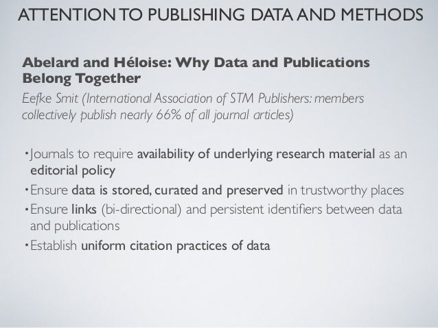 ATTENTION TO PUBLISHING DATA AND METHODS   MOVING FROM NARRATIVES (LAST 300 YRS) TO THE ACTUAL                            ...