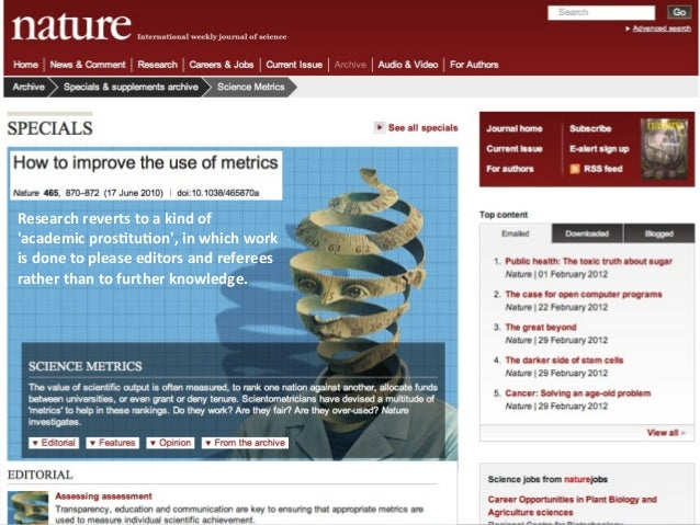 Research reverts to a kind of academic pros4tu4on, in which work is done to please editors ...