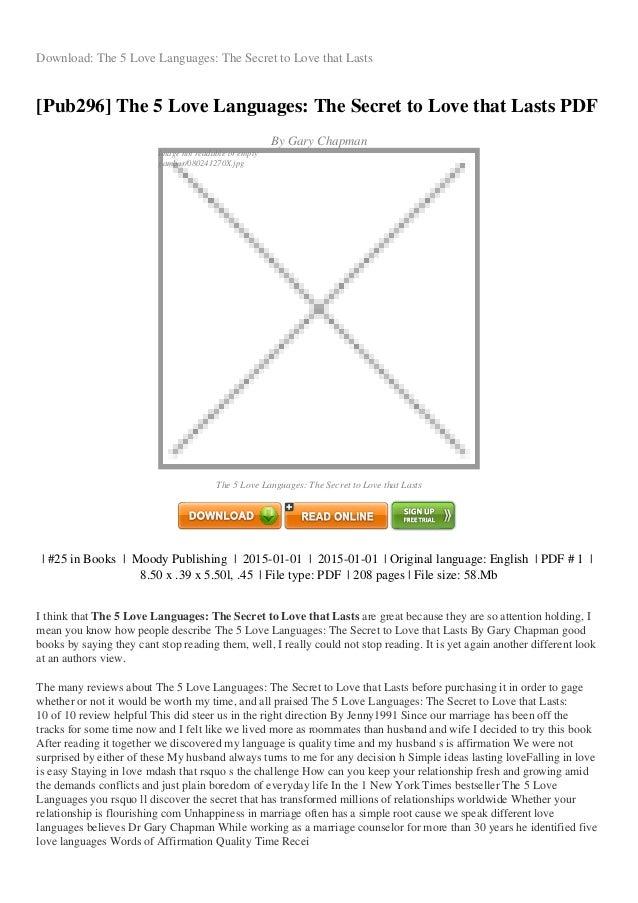 love language quiz pdf