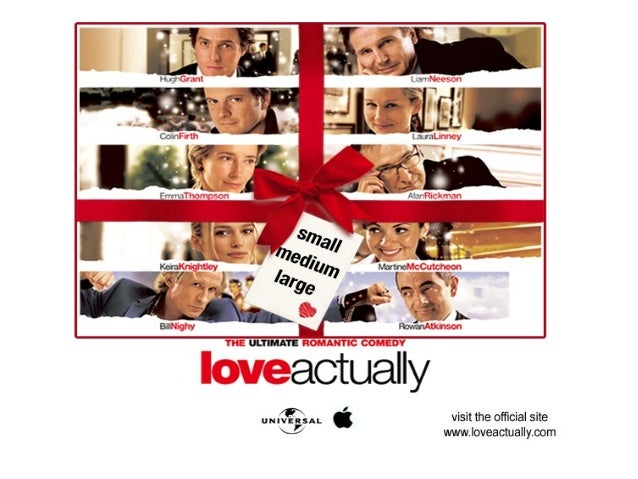 Love Actually Themes • LOVE • Love is the primary theme that runs throughout the entire film. It is incorporated into all ...