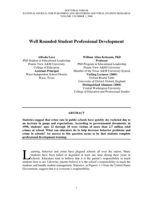 "DOCTORAL FORUM N / TlONaL JOLTRNAL FOR PLTBLISIIING AND Mli. 'l'ORING D0('l""ORAL STUDIENT Rl£Sl5AR('| l VOLUME 3 l'L7MBER ..."