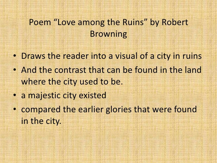 robert browning essays Robert browning: poems essays are academic essays for citation these papers were written primarily by students and provide critical analysis of poems by robert browning.