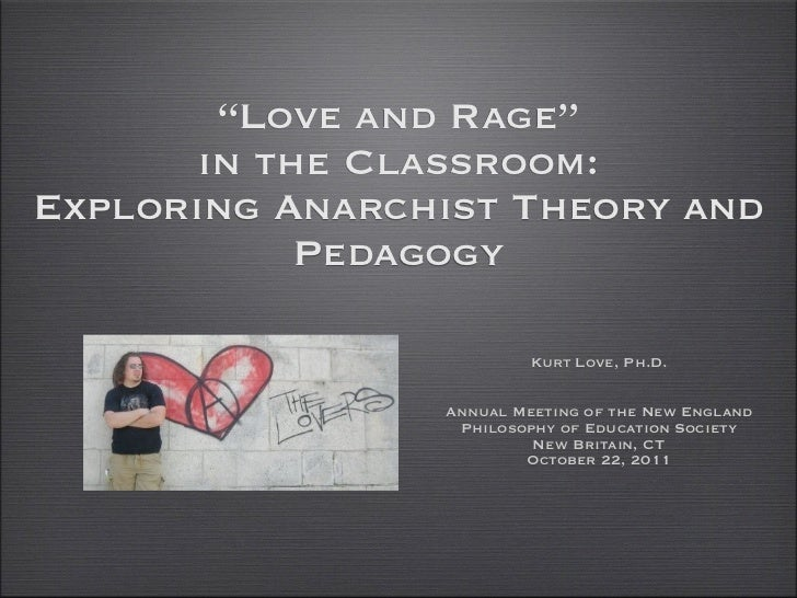 """Love and Rage""       in the Classroom:Exploring Anarchist Theory and            Pedagogy                         Kurt Lov..."