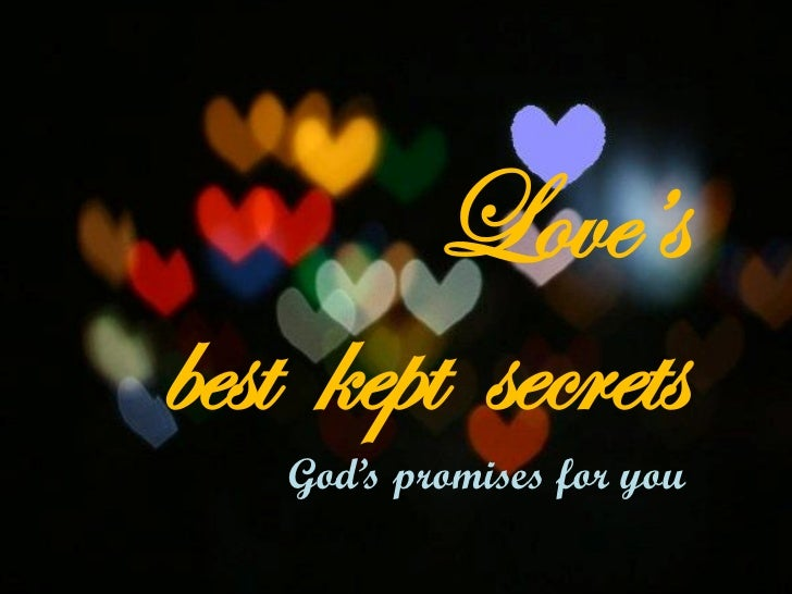 Love'sbest kept secrets    God's promises for you