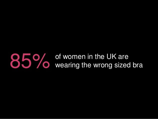 of women in the UK are wearing the wrong sized bra85%