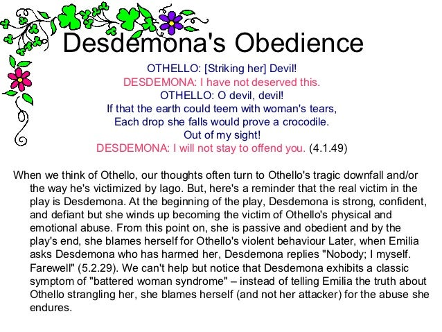 the relationship between othello and desdemona essay The changing relationship between iago and othello this is represented between iago and desdemona if you are the original writer of this essay and no.