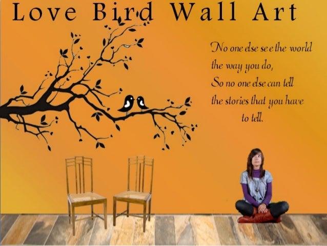 Love bird wall art