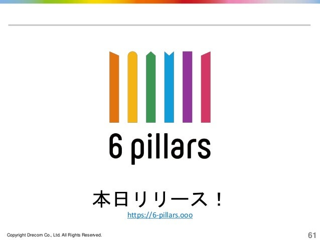 Copyright Drecom Co., Ltd. All Rights Reserved. 61 本日リリース! https://6-pillars.ooo